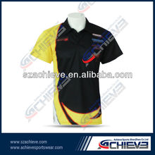 Custom sublimation polo shirt with dry fit function