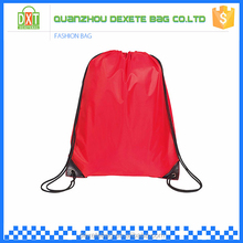 Wholesale new style cheap shopping polyester promotional drawstring bag