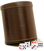 Factory Custom Classic Leather Dice Cup