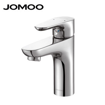 JOMOO Watermark & WELS Single Solid Brass Handle Chrome Plating Hot and Cold Basin Faucet Mixer