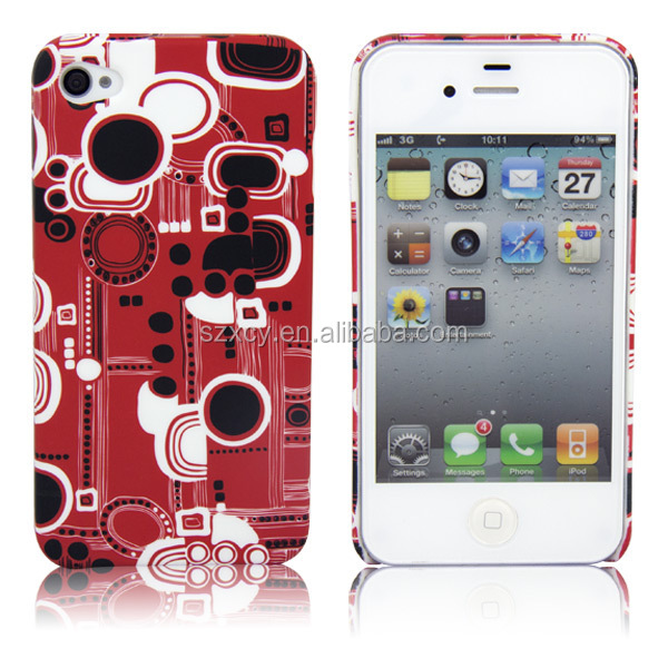 3D sublimation printing blank hard PC mobile phone case for iPhone 4 4s