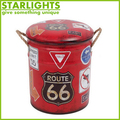 shoe round retro tin vintage metal stool