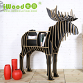 Luxury art furniture moose bookshelf wooden animal coffee table