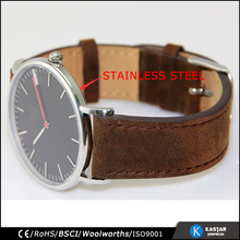mad cow leather strap 5ATM waterproof D+W similar 316L stainless steel watch man