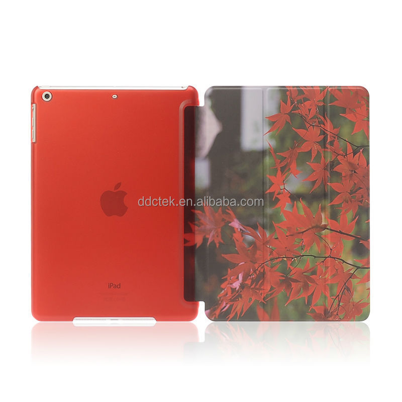 Mapple image water paste injection whole PC PU cover for ipad mini case custom