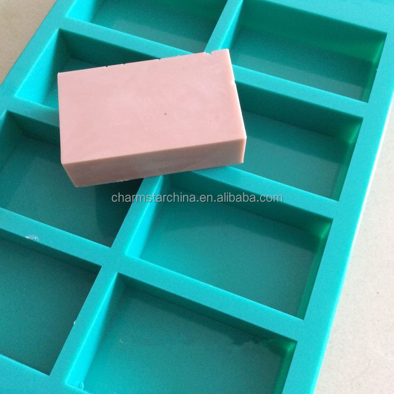 High Quality 8 holes Rectangle Silicone Soap Molds Silicone Mold for Soap