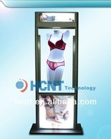 New Invention ! magnetic levitation led display rack for underwear, open hot sexy girl bra
