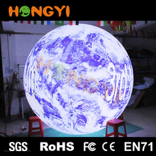 Custom Giant Inflatable LED Earth Balloon Advertising Inflatable Earth Global Ball For Sale