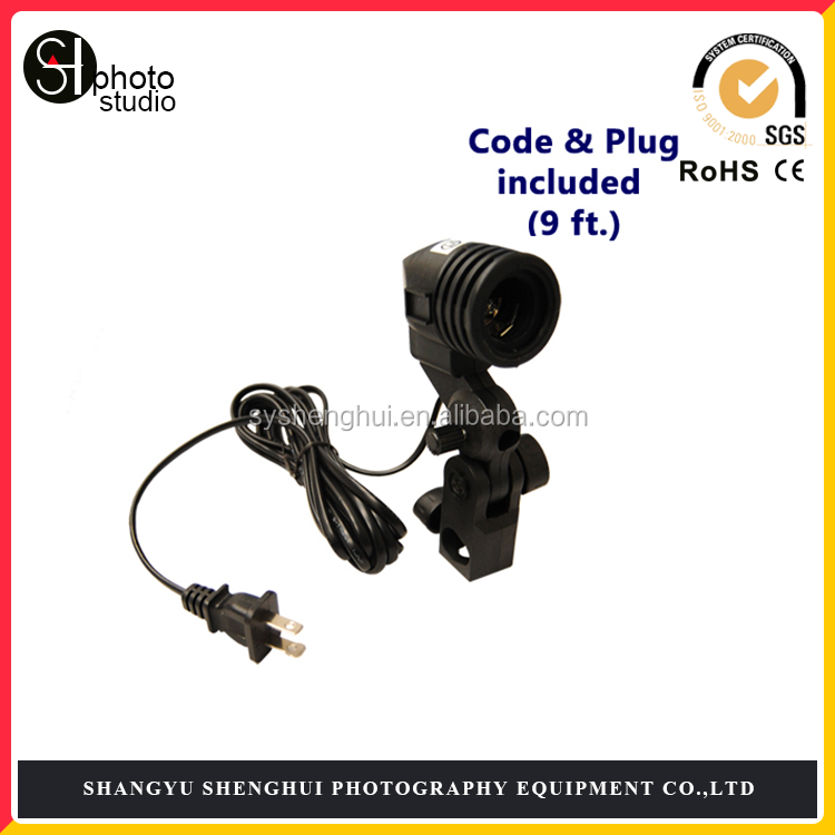 Photo Studio E27 AC Swivel Socket Adatper Light Stand