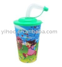 14OZ Carton Printing PP Plastic Drinking 3D Cup