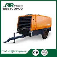 New unipolar series mobile high pressure screw air compressor