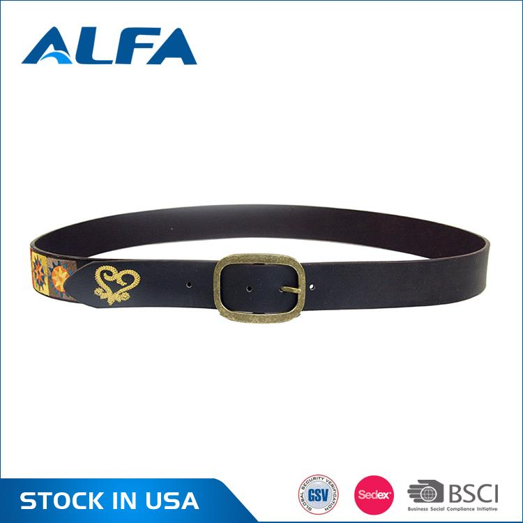 Alfa High Demand Products India Unisex Cheap Men Waist Peruvian Hand Embroidered Belts