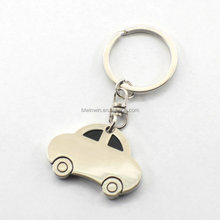 High end metal car shaped custom keychain, 2d custom shaped soft pvc keychain