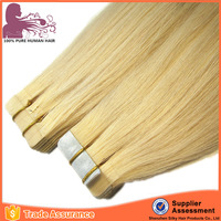 Factory customized wholesale 100% remy hair 10 to 30 inch high quality tape hair extensions