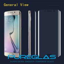 2016 hot selling high margin premium 3D screen protector s7 edge curved tempered glass