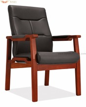 D-353 Simple design wood legs conference chair simple designs wood four legs office chair conference chair