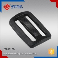 Adjustable ladder lock buckle , plastic belt tri-glide strap webbing buckle JW-R026