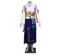 Final Fantasy Ten Yuna costume Dress Full Set With Accessories