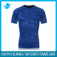2016 Custom Ohyoung garment factory 100%ployester running t shirt