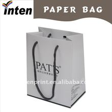 fancy white handle cosmetic paper bag