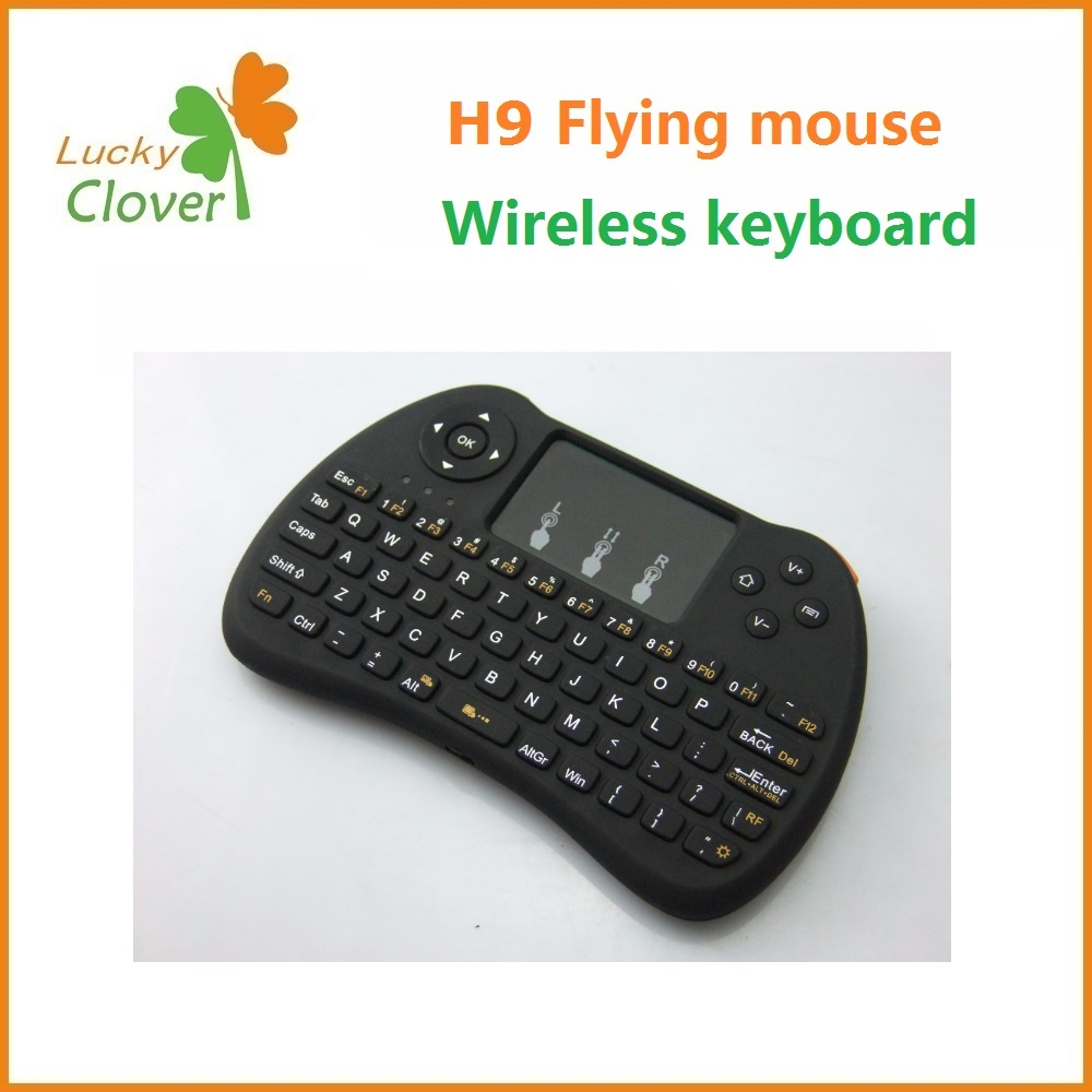 Hottest H9 TV remote control new 2.4G wireless mini keyboard and Fly mouse Touchpad for PC Android TV