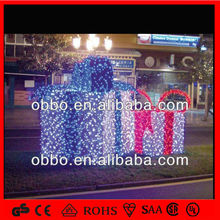 2014 outdoor light christmas decorations large gift box