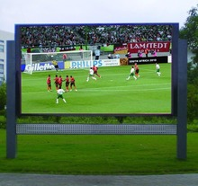 P8 outdoor full color led advertising display screen video wall waterproof cabinet