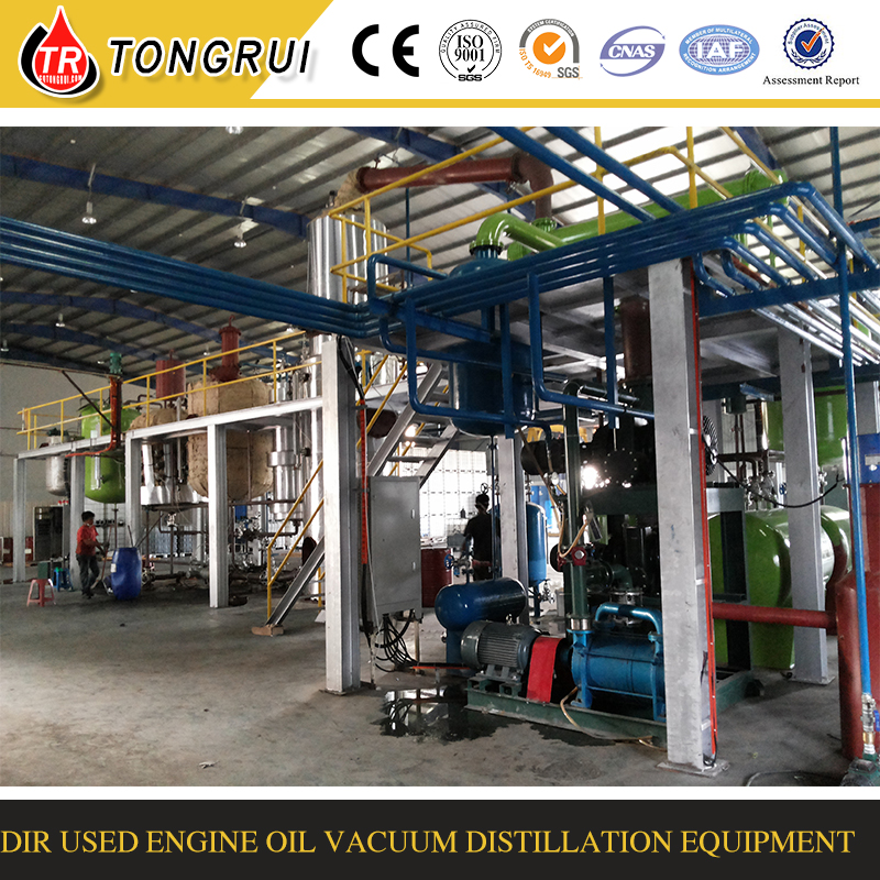 Pyrolysis tire oil and plastic oil distillation to diesel machine