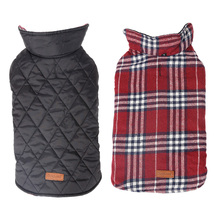 Dog Checked Design Pet Dog Sport Clothe Dog Quilted Coat