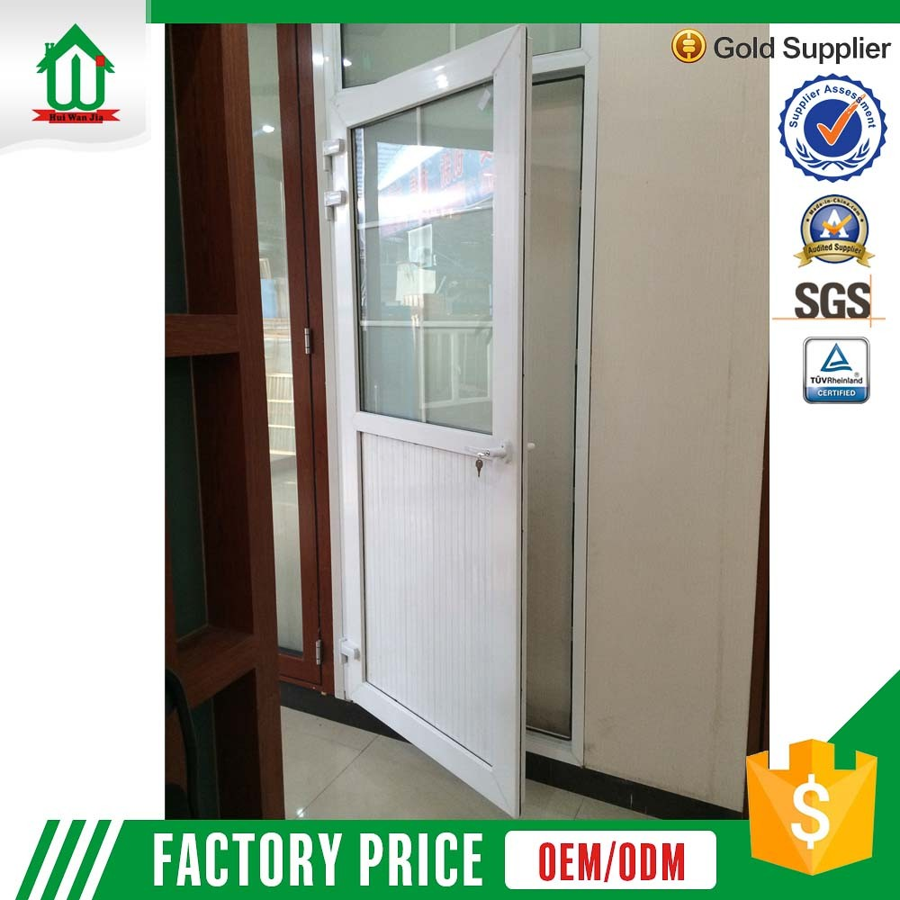 White Color Double Casement Sash Opening French PVC Door
