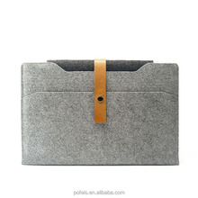 Easy and convenient document bag fashion wool felt leather laptop bag for ipad bag