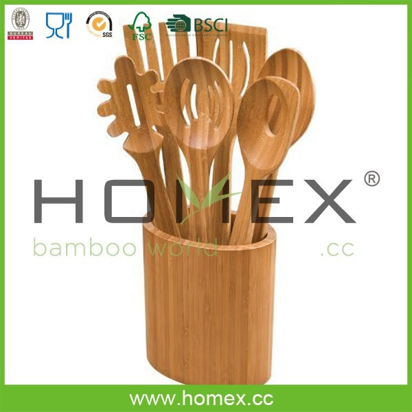 Bamboo Kitchen Tool Holder/Utensil Caddy/Homex_FSC/BSCI Factory