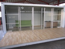 Good prefabricated modified shipping container house for living
