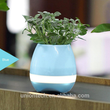 Wholesale Special Gift Indoor Smart Touch mini plant pots with Bluetooth Speaker