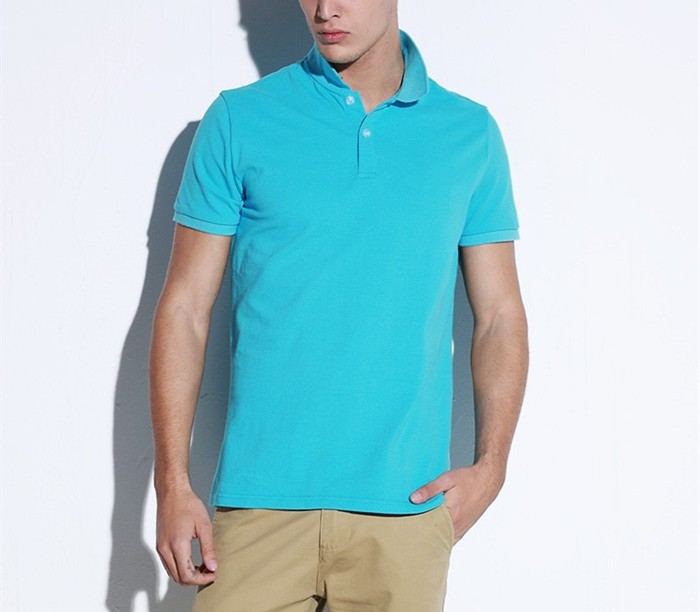 2016 New Brand Summer Collar Solid T Shirt Blank Cotton Shirt Polo Shirt