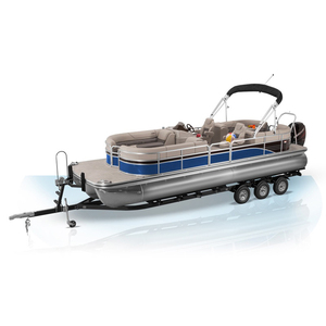 Aluminum Pontoon Boat Luxury Fishing And Compact Models For Sale