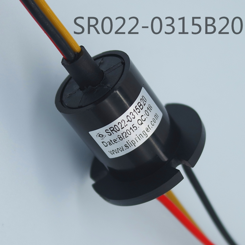 12v electric motor slip ring,model:SR022-0315B20,wires:2/3/4