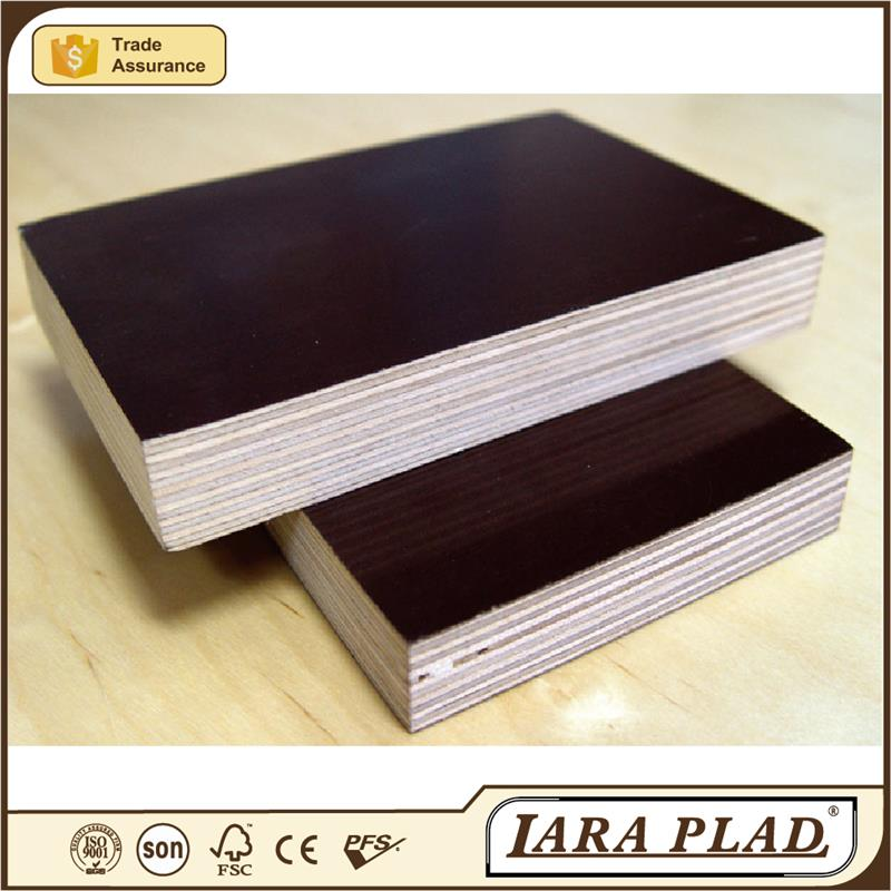 Melamine Glue Faced Film Finger Joint Core Plywood,Brown or Black Color,Poplar core