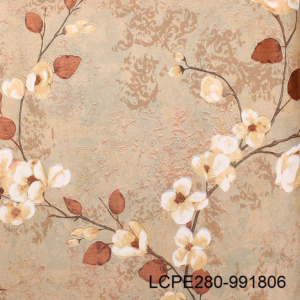 New Modern Elegant Textured Flower Wallpaper Design