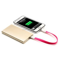 Super slim 5000mAh rechargeable battery charger power bank charger for iphone factory