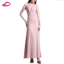 2017 New Arrival Long Formal wedding dress sleeveless elegant women party dress