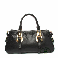 Hot sell best quality black animal skin leather handbags women designer tote bag dropship