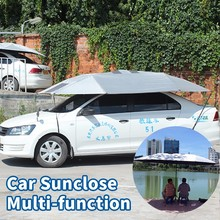 SUNCLOSE High Quality Manual Silver Car Coating Umbrella Waterproof Snow Protection