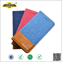 Hybrid Jeans + PU Leather Wallet Case With Card Slots For Iphone4/5/6/6s