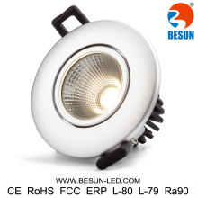 BESUN Norge retrofit led light dimmable cob Dali led downlight 7w Europe downlight warmdim 2700K