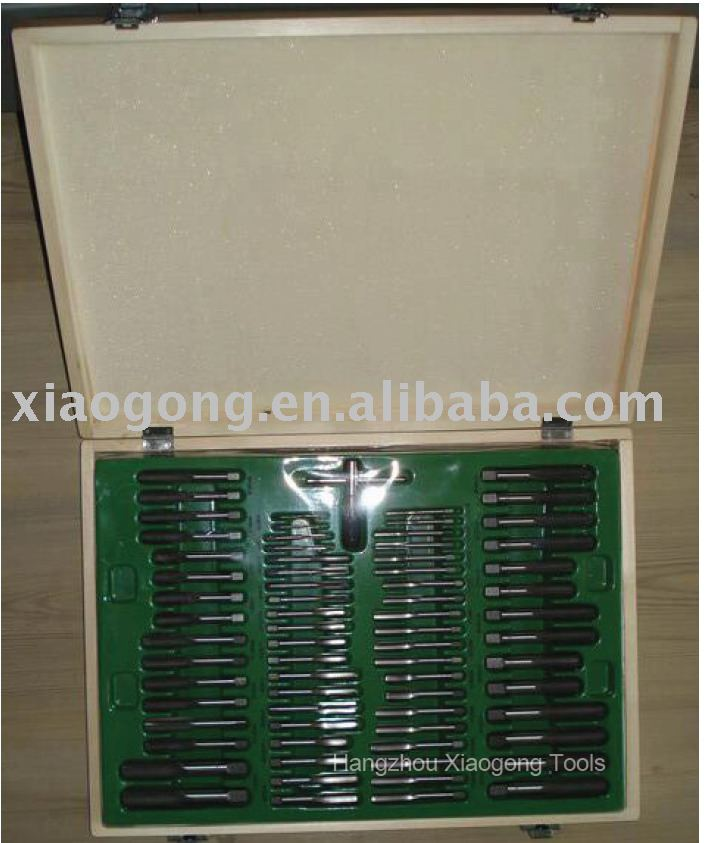 110pcs tap and die set, Wooden Box