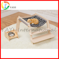 Tiny Wood Raised Dog Bed Wooden Pet Bed For Small Puppies Cat