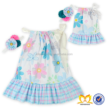 Floral Printed Baby Kids Clothes Wholesale China Summer Dress Designs Teenage Girls Baby Dress Pictures