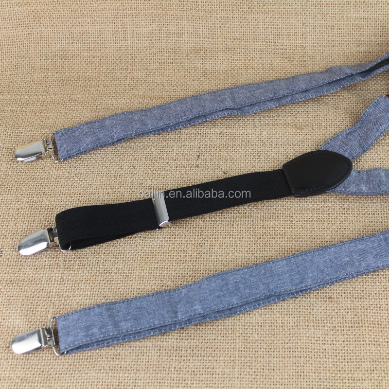 2.5cm Fashion Canvas elastic suspender for Jeans Clothing Shirt And Suspender Trousers Gentleman Clothing Sets