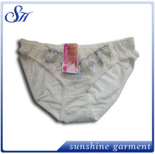 hot selling high quality wholesale fashional girls in lace panties white